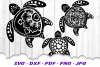 Mandala Sea Turtle SVG DXF Cut Files Bundle example image 2