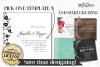 Wedding invitations layout pack example image 2