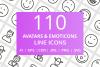 110 Avatars & Emoticons Line Icons example image 1