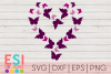Valentine's Day SVG | Wedding SVG | Heart Butterfly Design 2 example image 1