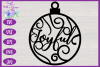 Christmas Word Ornaments SVG | Laser Cut Baubles SVG example image 11