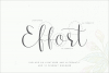 Effort Calligraphy Font example image 13
