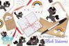 Black Unicorns Clipart, Instant Download Vector Art example image 4