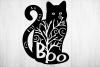 Boo Black Cat svg, Halloween black cat svg cut file, cat svg example image 2