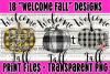 18 PNG Welcome Fall Bundle - Print File example image 1