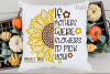 Sunflower, If mothers were flowers SVG / PNG / EPS / DXF example image 3