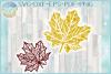 Fall Leaf Mandala Zentangle SVG example image 1