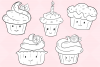 Kawaii Cupackes Digital Stamps example image 3