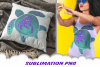 Turtle Glitter Palm Beach Sublimation PNG Design example image 2