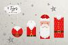 Santa Claus tags and cards example image 3