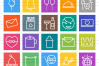 50 Celebrations Line Multicolor B/G Icons example image 2