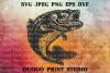 Bass Fish SVG, Zentangle SVG, Mandala svg, Fishing svg example image 1
