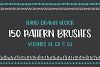 Hand Drawn Pattern Brushes Bundle - Volumes 01, 02 & 03 example image 1