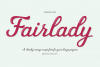 Fairlady a Chunky Script Font example image 2