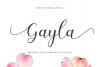 Gayla script example image 1