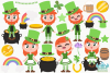 St Patrick's Day Clipart, Instant Download Vector Art example image 2