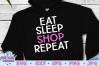 Eat Sleep Shop Repeat SVG, Black Friday SVG example image 1