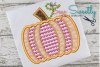 Thanksgiving Pumpkin Hearts Sketch Applique Embroidery example image 1
