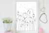 Light Flower Doodle Art, A1, SVG example image 5