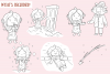 Little Matchstick Girl Fairy Tale Clip Art Collection example image 2