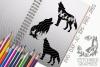 Wolves Bundle SVG, Silhouette Studio, Cricut, Eps, JPEG, PNG example image 1