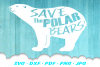 Save The Polar Bears SVG DXF Cut Files example image 1
