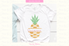 Pineapple Monogram Svg, Pineapple Svg, Summer Svg, pineapple example image 1