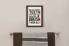 Brush Your Teeth, A Bathroom Sign, SVG or Sublimation example image 2