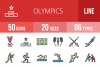 50 Olympics Linear Multicolor Icons example image 1