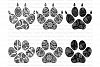 Paw Mandala SVG, Zentangle Paw SVG, Cat Paw, Dog Paw Mandala example image 2