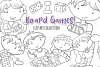 Kids Playing Board Games Digital Stamps example image 1