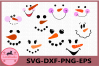 Snowman Face svg, Christmas Snowman, Christmas face svg example image 1
