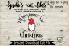 I'll be gnome for Christmas//SVG//EPS//DXF File example image 2