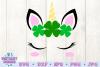 unicorn face svg, unicorn svg, st patricks svg, unicorn head example image 2