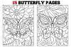 Coloring Pages For Kids - 15 Butterfly Coloring Pages example image 1