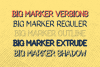 Big Marker Font Family example image 2