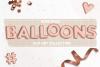Rose Gold Foil Balloons Clip Art Set   Rose Gold Alphabet example image 1