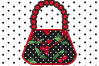 Purse with Beaded Handle Applique Embroidery Design example image 1