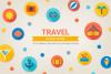 Round Travel Icons example image 1