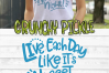 Live Each Day Like It's Nugget Night SVG Cut File example image 6