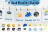 Sky Wonder, Watercolor Clip Art Set! Patterns, Backgrounds! example image 2