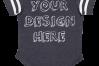 Infant Football Bodysuit Mockups - 12 |PNG|Front/Back - V2 example image 2