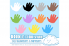 Colorful Baby FootPrints & Handprints Cliparts, Baby Hands Foot prints , Transparent / White Backgrounds, Instant Download, Commercial Use example image 2