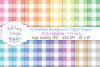 16 seamless Digital Papers - Pastel Gingham 1/2 inch - HC004 example image 1