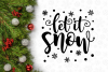 Let It Snow Winter Christmas Svg Design example image 3