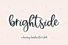 Brightside - A Bouncy Handwritten Script Font example image 1