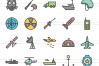 150 Law & Order FIlled Line Icons example image 6