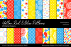 Yellow, Red And Blue Digital Papers example image 1