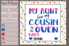 My Aunt has my Cousin in the Oven/ Gender Reveal Designs example image 3