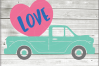 Valentine truck WITH LOVE HEART svg - truck SVG - Valentine example image 1